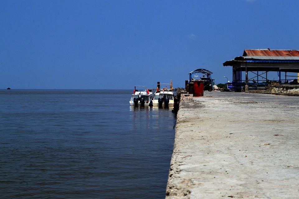 Port, Harbour, Sea, Boat, Motorboat, Sky, Seashore