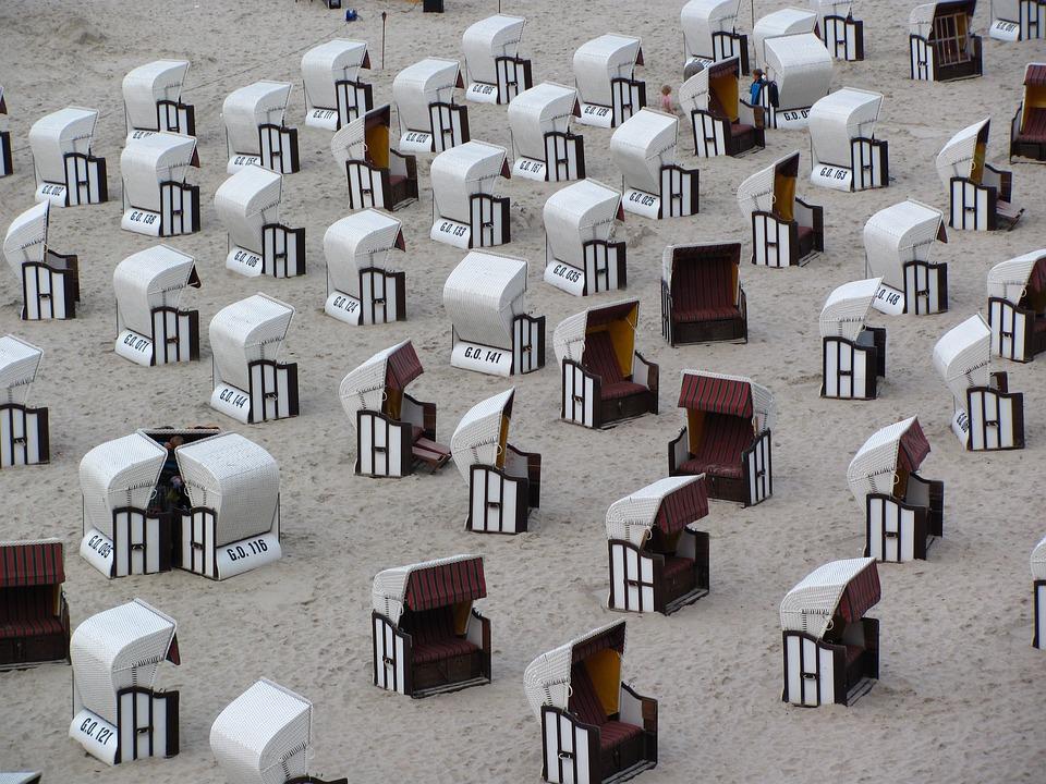 Chairs, Sea, Seats, Beach Umbrella, Beach, Umbrellas