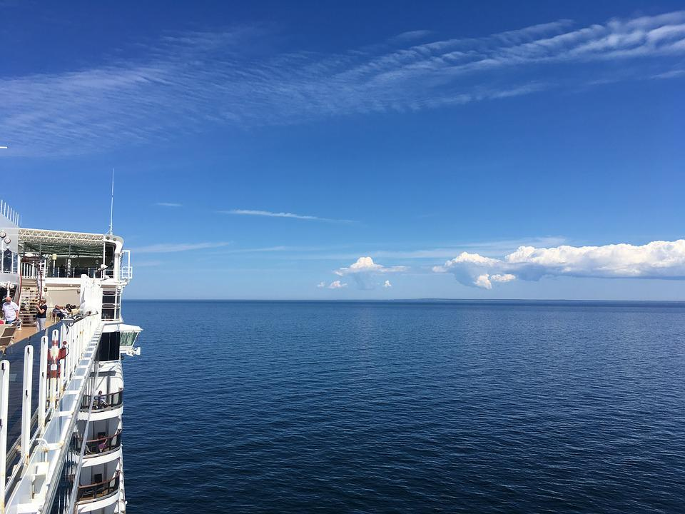 Sea, Clouds, Horizon, Cruise, Ship, Queen Elizabeth
