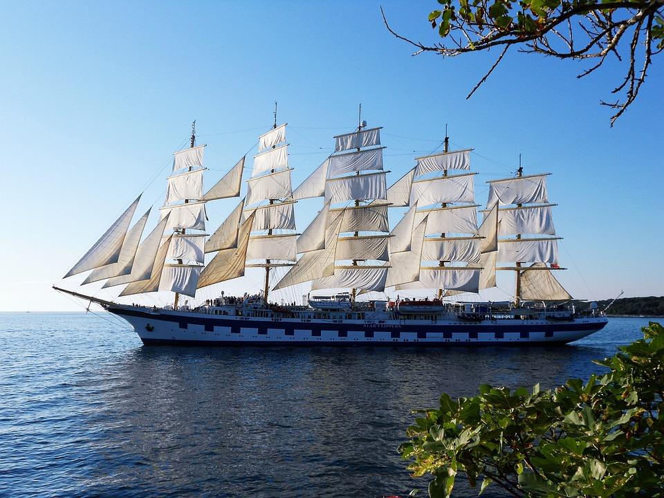 Sailing, Ship, Sea