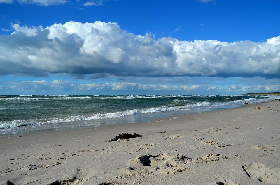 Sea, Clouds, Beach, Sky, Nature, Lake, Wave, Summer