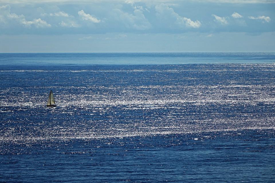 Atlantic Coast, Sea, Sky, Backlighting, Clouds