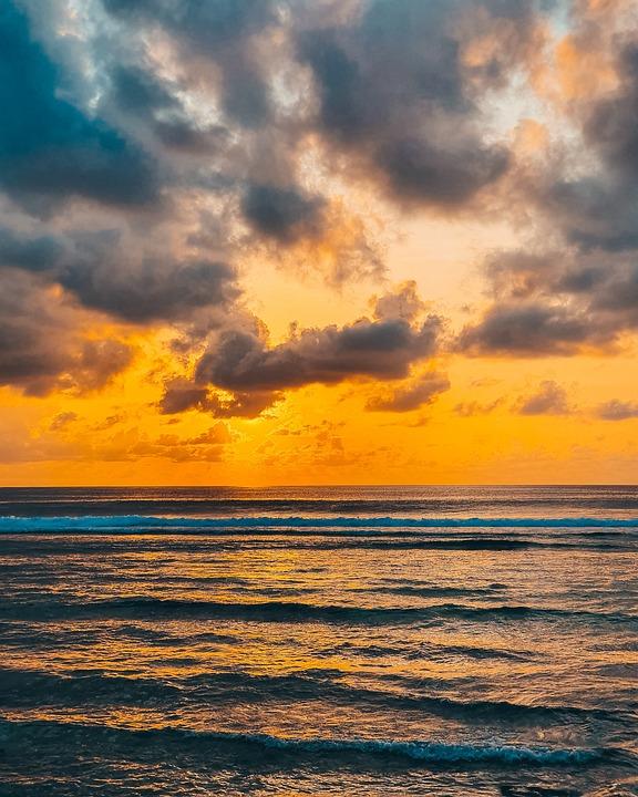 Sunset, Sea, Horizon, Beach, Dusk, Twilight, Sky