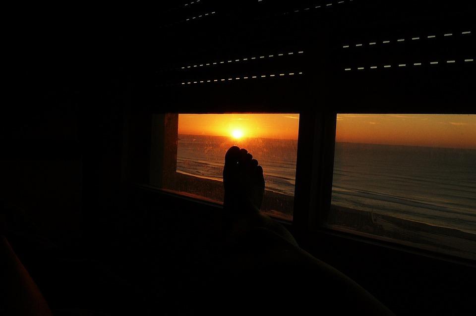 Dawn, Foot, Sky, Sea