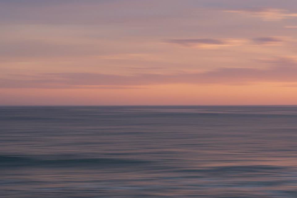 Sea, Sky, Clouds, Sunset, Ocean, Evening, Scenic