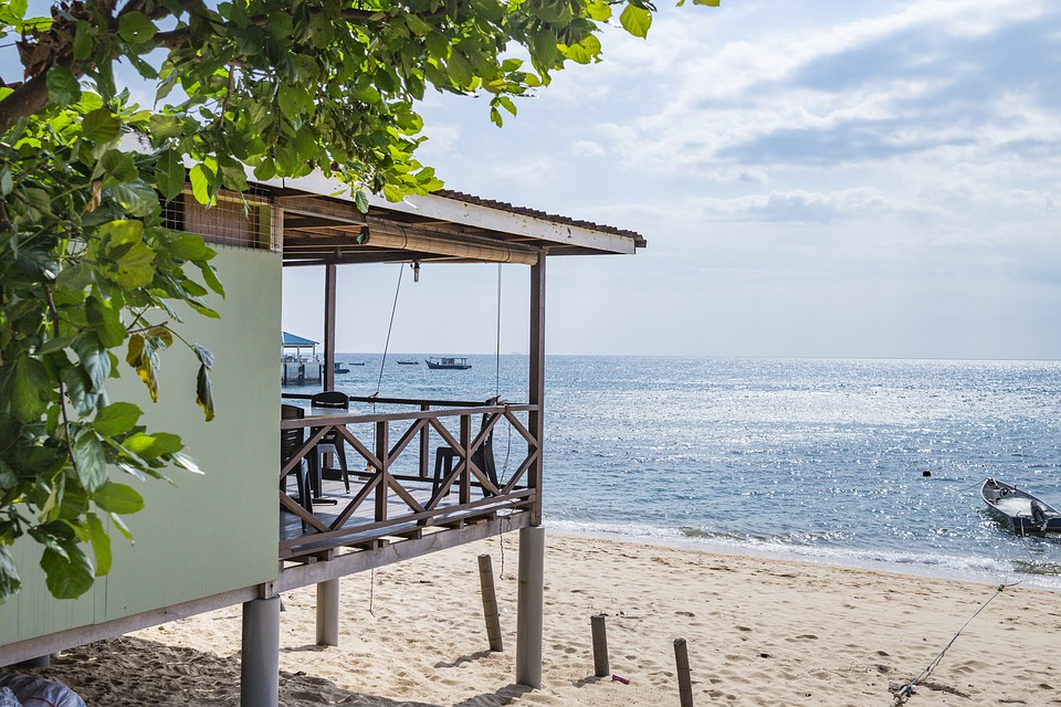 Sea, Seaside, Beach, House, Green, Plant, Sky, Boat