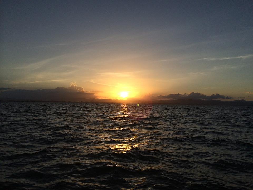 Thailand, Sea, Sunset, Sky