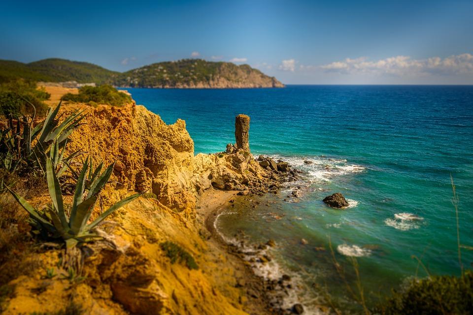 Ibiza, Cliffs, Holiday, Vacation, Stack, Sea, Summer