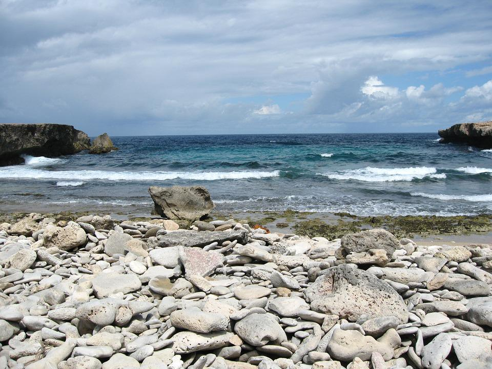 Stones, Sea, Clouds, Aruba