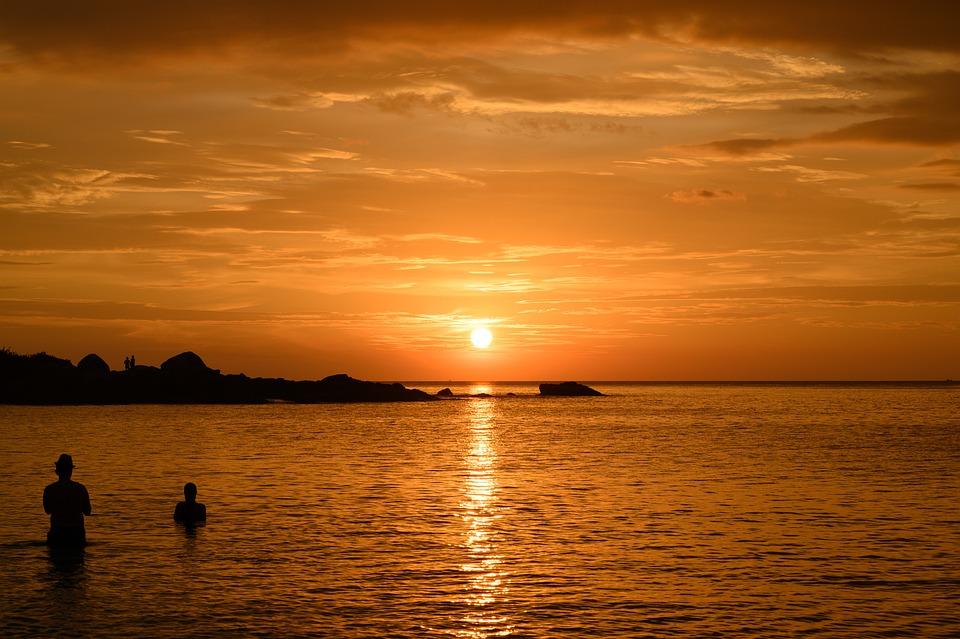 Sunset, Beach, Thailand, Sky, Sea, Ocean, Summer
