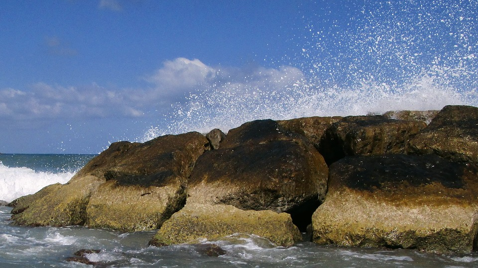 Sea, Water, Summer, Seascape, Stones, Beach, Wave