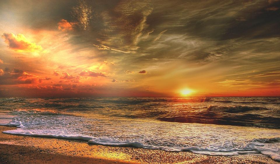 Denmark, Sun, Summer, Sea, Nature, Landscape, Sunset