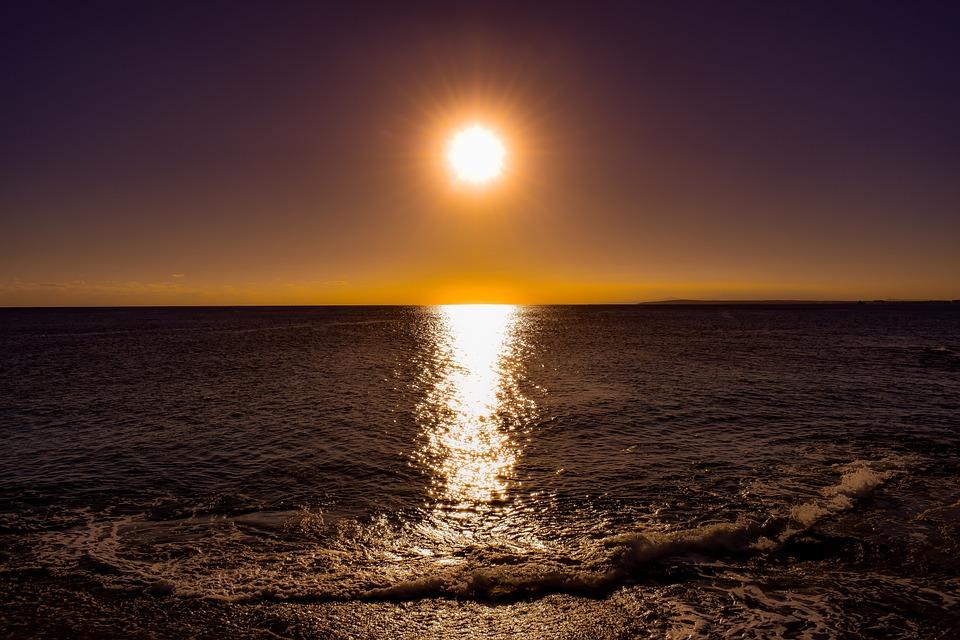 Sun, Sea, Afternoon, Sunset, Sky, Nature, Sunlight