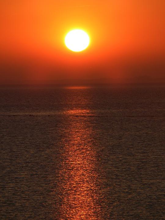 Sunset, Feeling, North Sea, Lake, Background, Sea