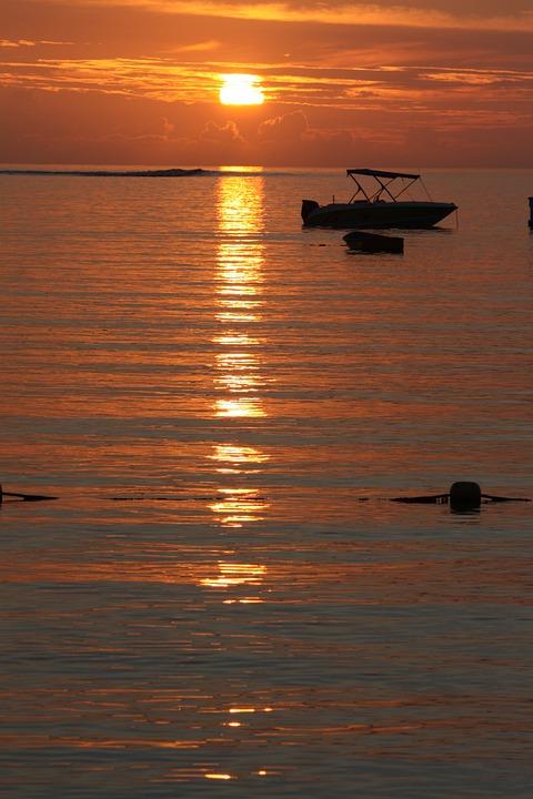Sunset, Sea, Ocean