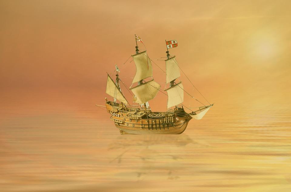 Waters, Sea, Sunset, Ship, Ocean, Sailing Boat, Sky