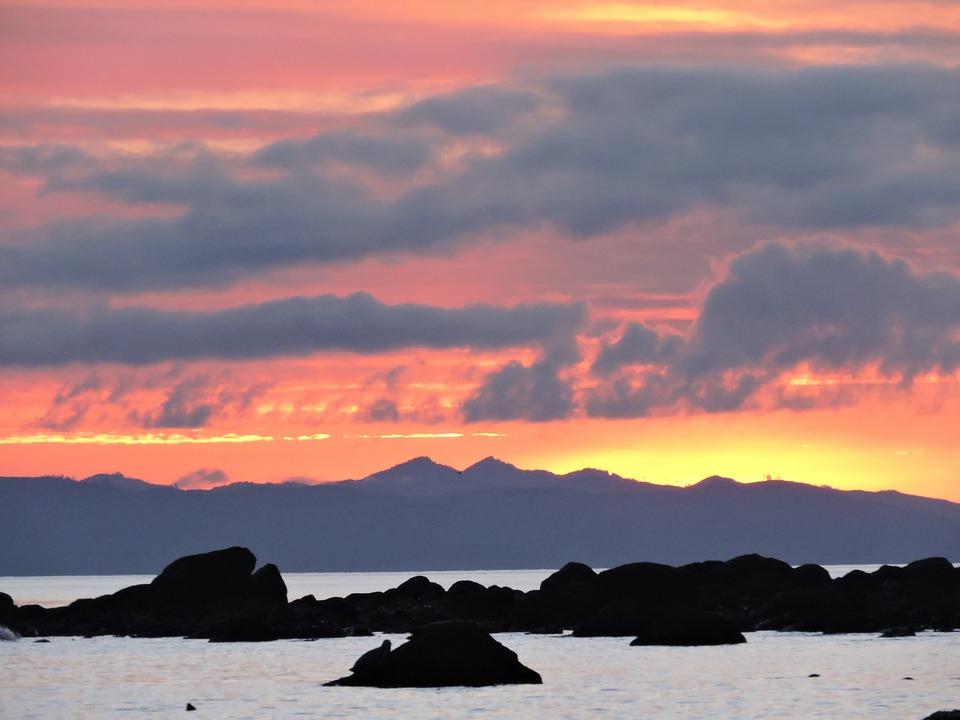 Sunset, Ocean, Shore, Sea, Water, Coast, Dusk, Evening