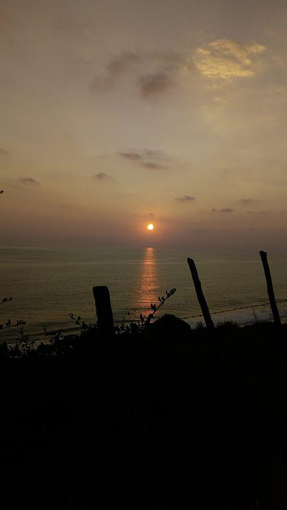 Sea, Beach, Sunset On The Beach, Sunset On The Sea