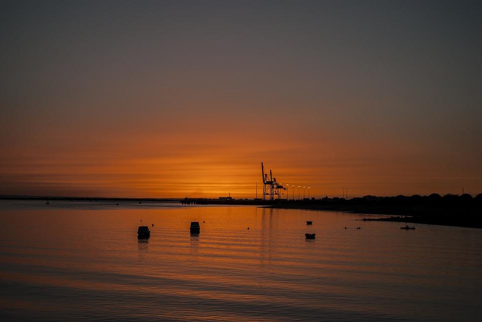 Sunset, Body Of Water, Dawn, Sea, Silhouette, Sky