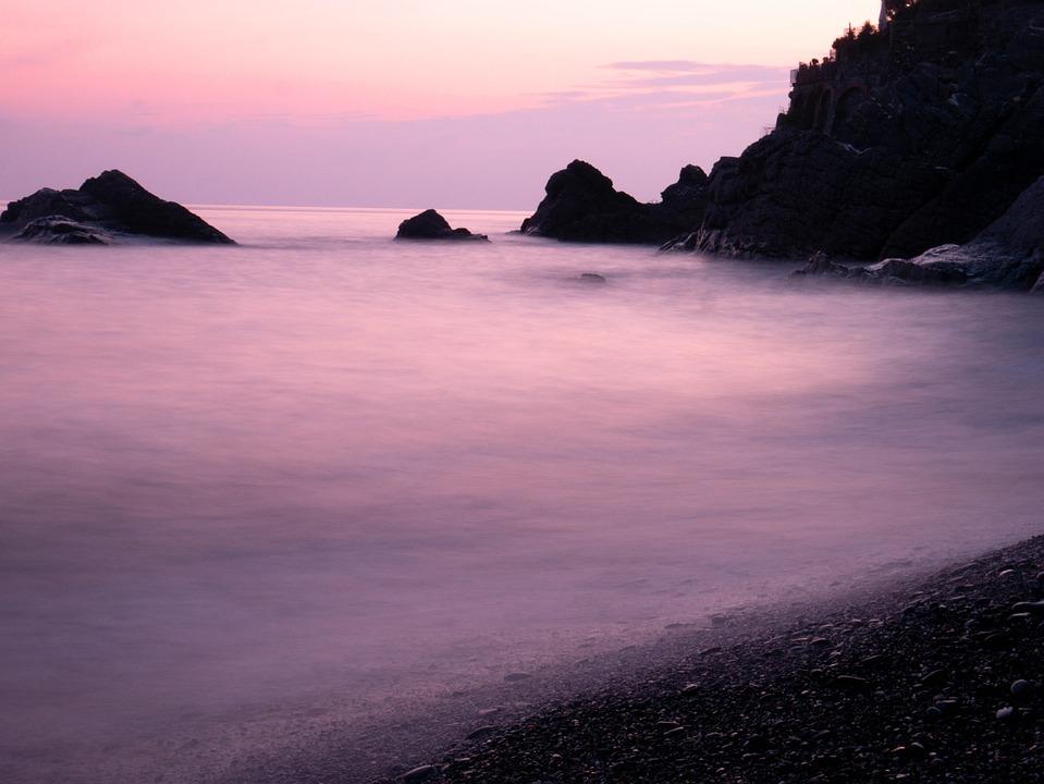 Sea, Long Exposure, Costa, Sunset, Sky, Landscape