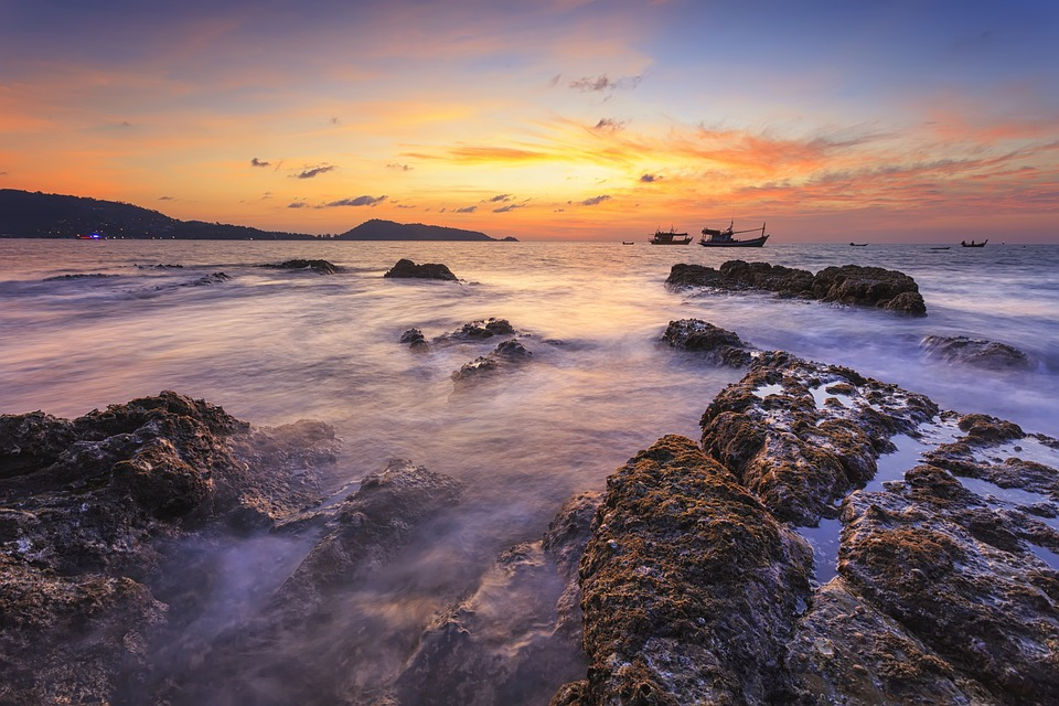 Landscape, Seascape, Sunset, Color, Sea, Summer, Ocean