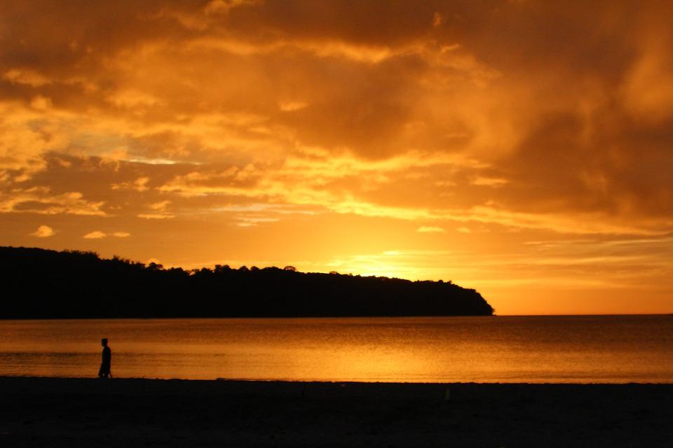 Sunset, Bataan, Orange, Beach, Sea, Sun, Tropical