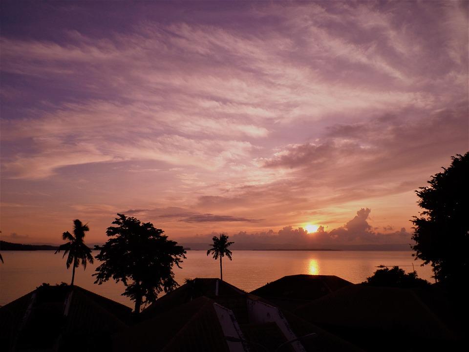 Sea, Sunset, Sunrise, Ocean, Water, Sky, Nature