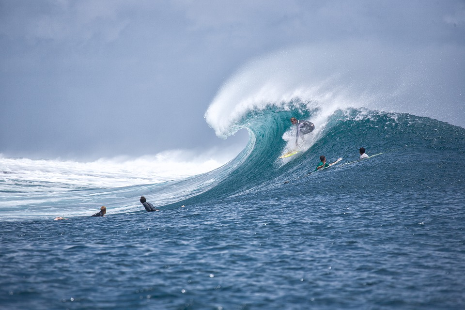 Surf, Surfing, Big Waves, Surfer, Splash, Ocean, Sea