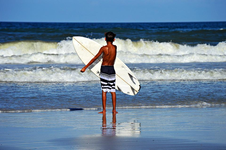 Atlantic, Surfer, Ocean, Surf, Water, Sea, Sky, Coast