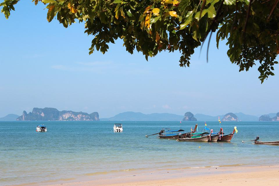 Thailand, Beach, Water, Sea, Boot