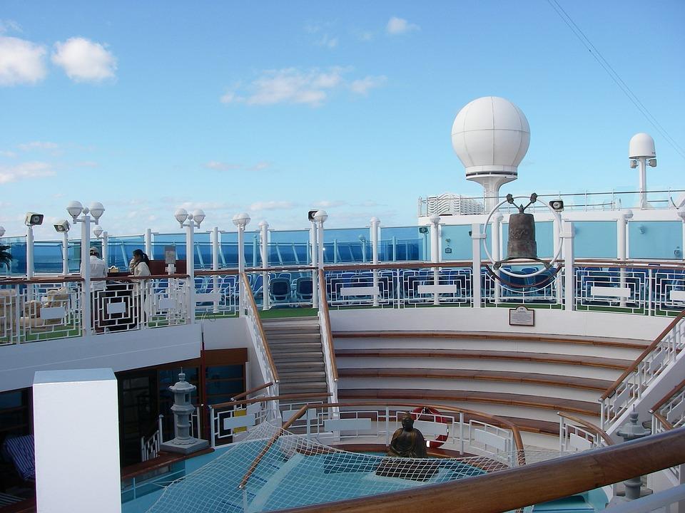 Cruise Ship, Vacation, Travel, Ship, Deck, Sea