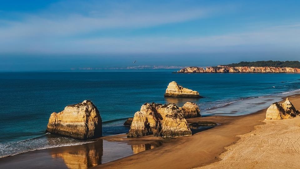 Algarve, Beach, Water, Sea, Travel, Seashore, Vacation