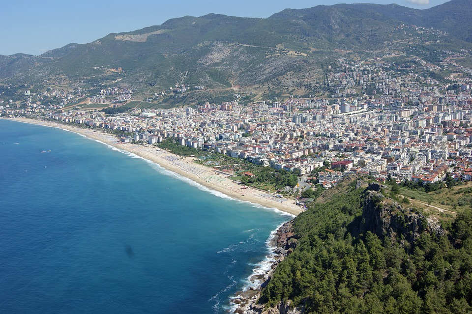 Alanya, Turkey, Panorama, Water, Sea, Holiday