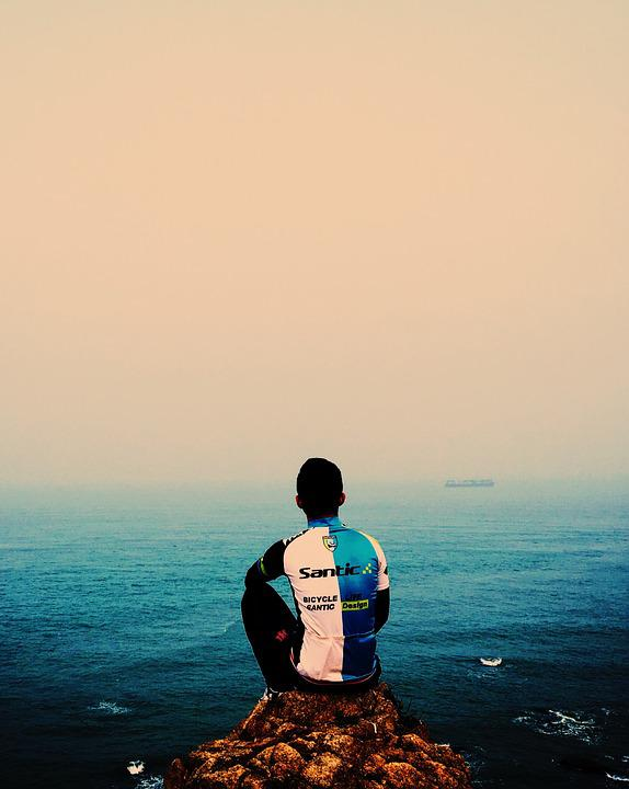Sea, Riding, Twilight