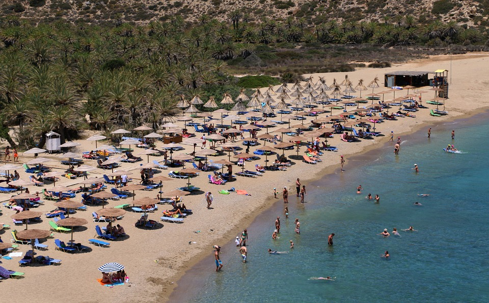 Beach, Vai, Vai Beach, Vai Crete, Palm Beach, Sea