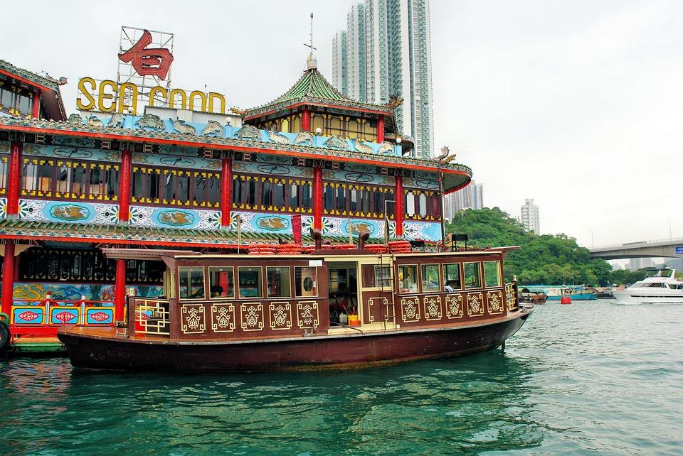 Hong Kong, Port, Victoria, Restaurant, Sea