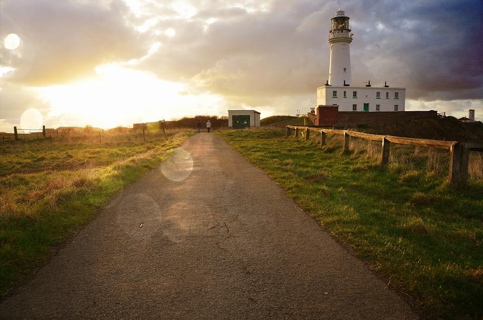 Lighthouse, Lane, Sea Wall, Sky, Lantern, Sea, Tour