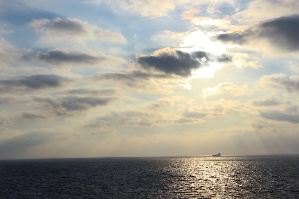 Sun, Sea, Ship, Wanderlust, Sunset, Romantic, Sky
