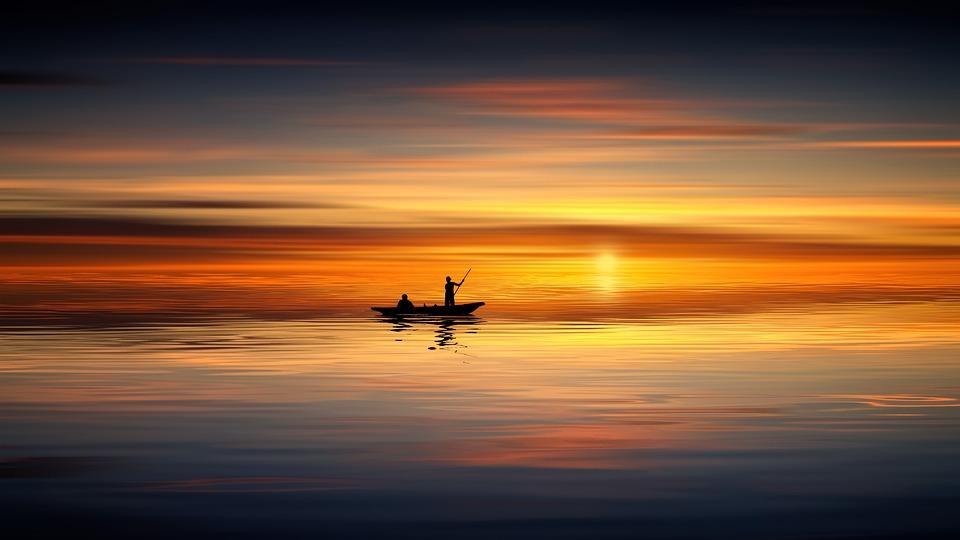 Sunset, Ocean, Boat, Human, Sea, Water, Sky, Landscape