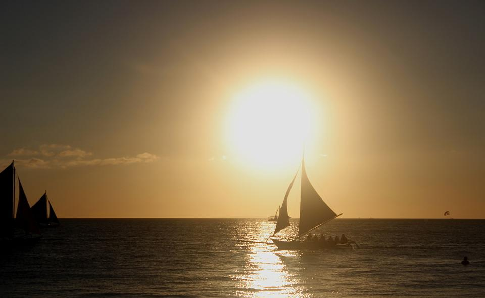 Sunset, Boat, Water, Sea, Vacation, Nature, Landscape