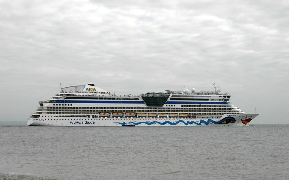 Passenger Cruise Ship, Sea, Water, Le Havre, France