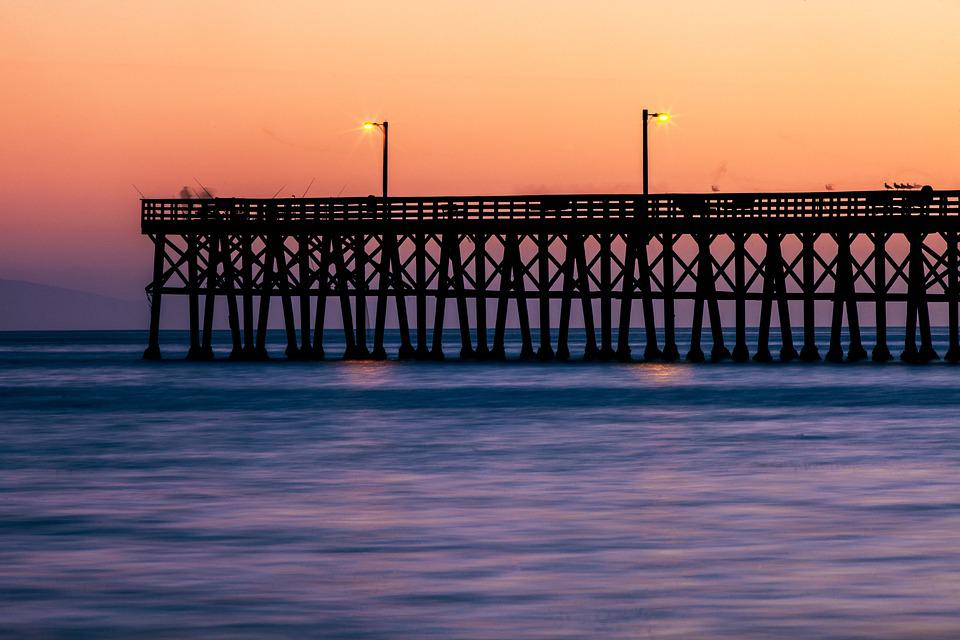Jetty, Water, Ocean, Sunset, Sea, Nature, Pier
