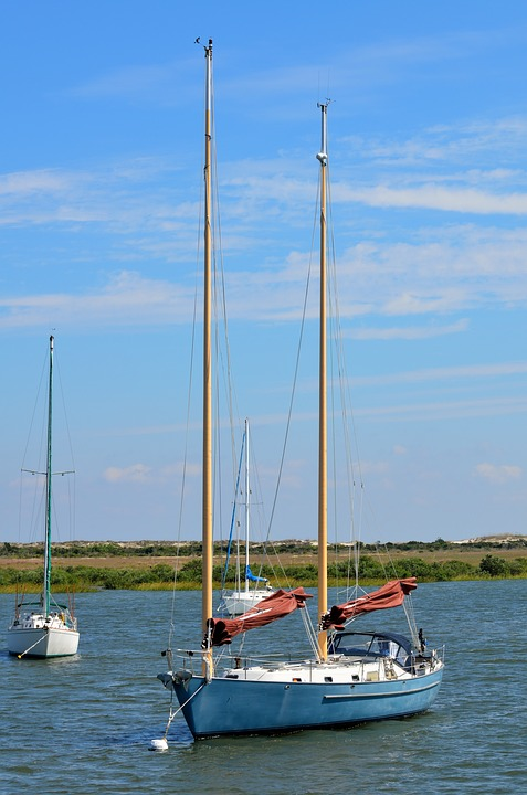 Sailboat, Moored, Secured, Anchored, Water, Travel, Sea