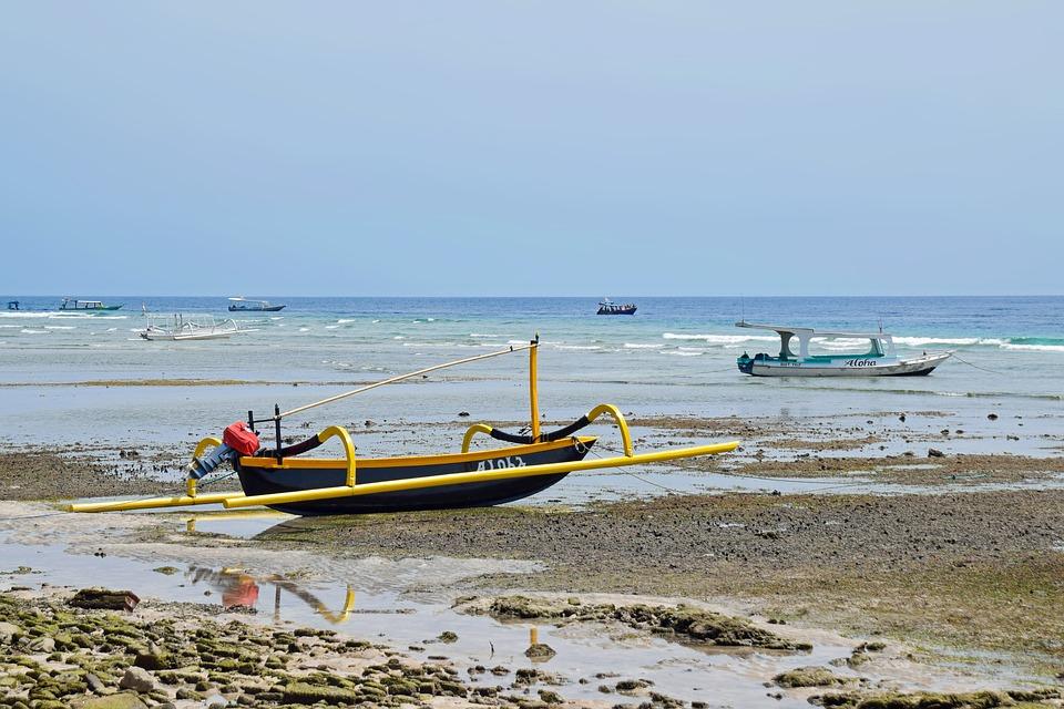 Indonesia, Travel, Gili Islands, Sea, Ship, Water