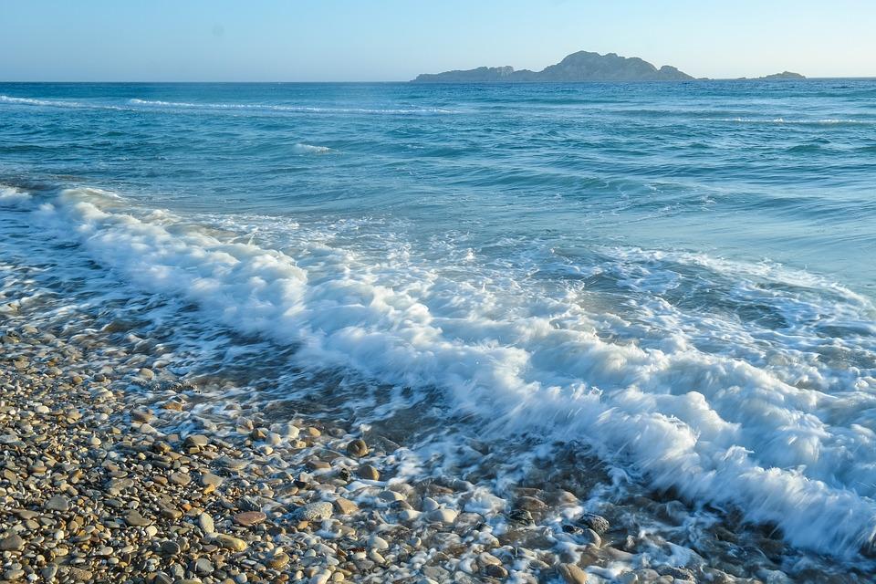 Sea, Beach, Wave, Pebble, Water, Stones, Vacations
