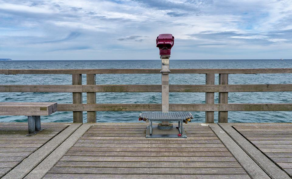 Waters, Sea, Pier, Nature, Baltic Sea