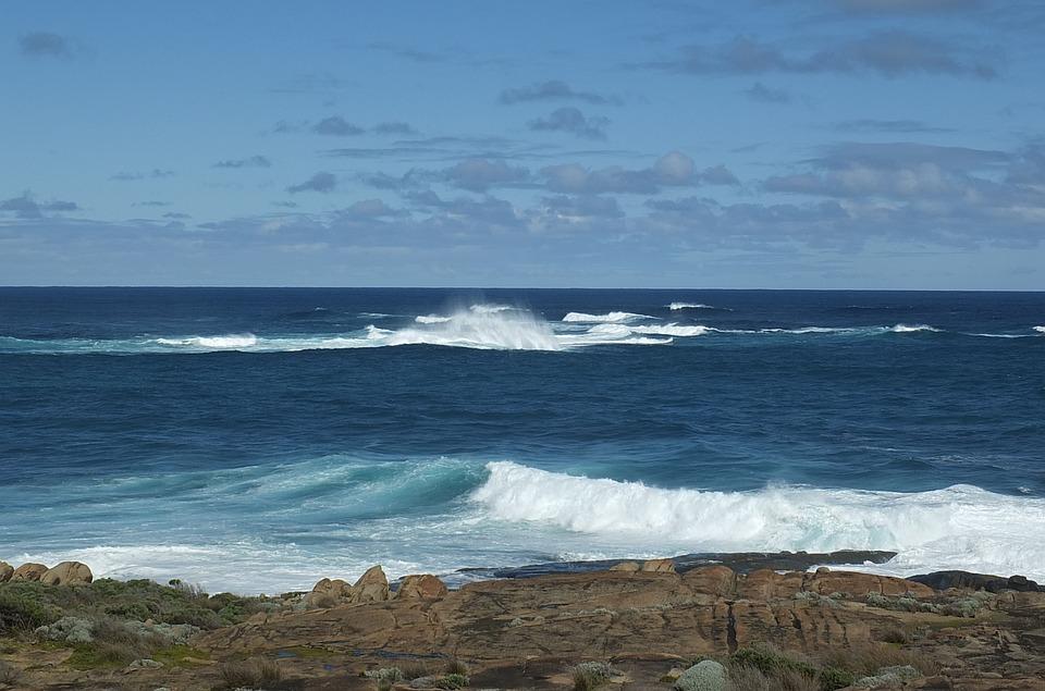 Waves, Sea, Ocean, Wave Background, Sunlight