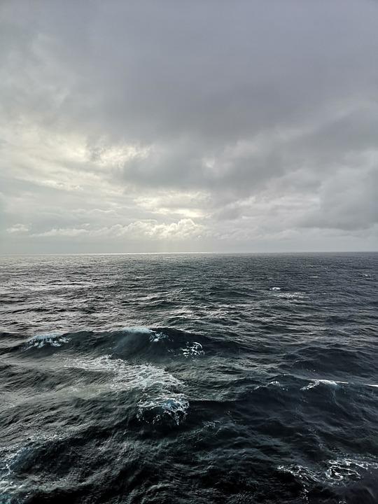 Sea, Clouds, Wave, Water, Ocean, Nature, Dusk, Lake