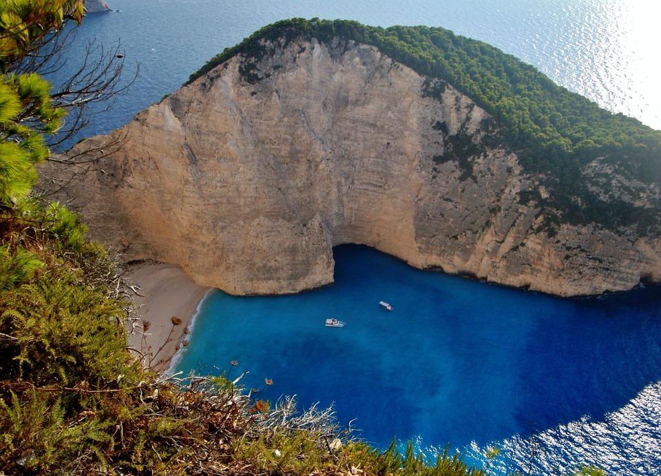 Zakynthos, Island, Rocks, Sea, Bay, Beach, Summer