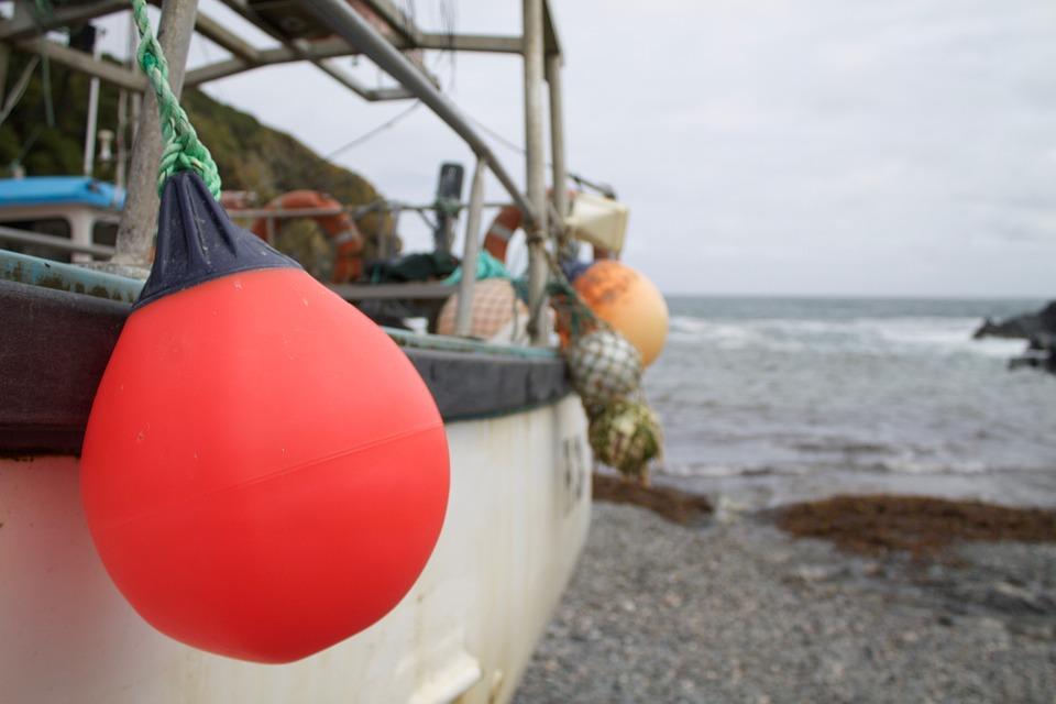 Sea-side, Beach, Shingle, Boats, Buoy